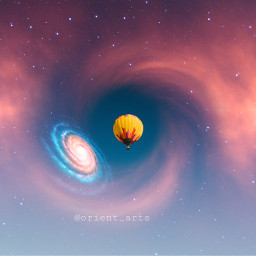 freetoedit galaxy nebula hole hotairballoon