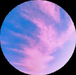 clouds rainbow circle kolo koło freetoedit