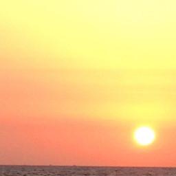 atardecer sunset mar amarillo sun pcthegoldenhour pcbeautifulsun pcminimalism