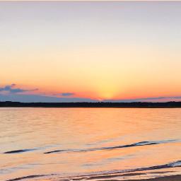 freetoedit simplicity sunset horizon sea pcthegoldenhour