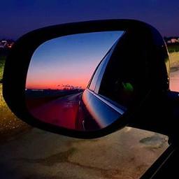 car sunrise photography landscape nature