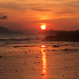 freetoedit beautiful unforgettable sunset seaside pcthegoldenhour pcbeautifulsun
