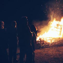 fire flames bonfire nightphotography blaze