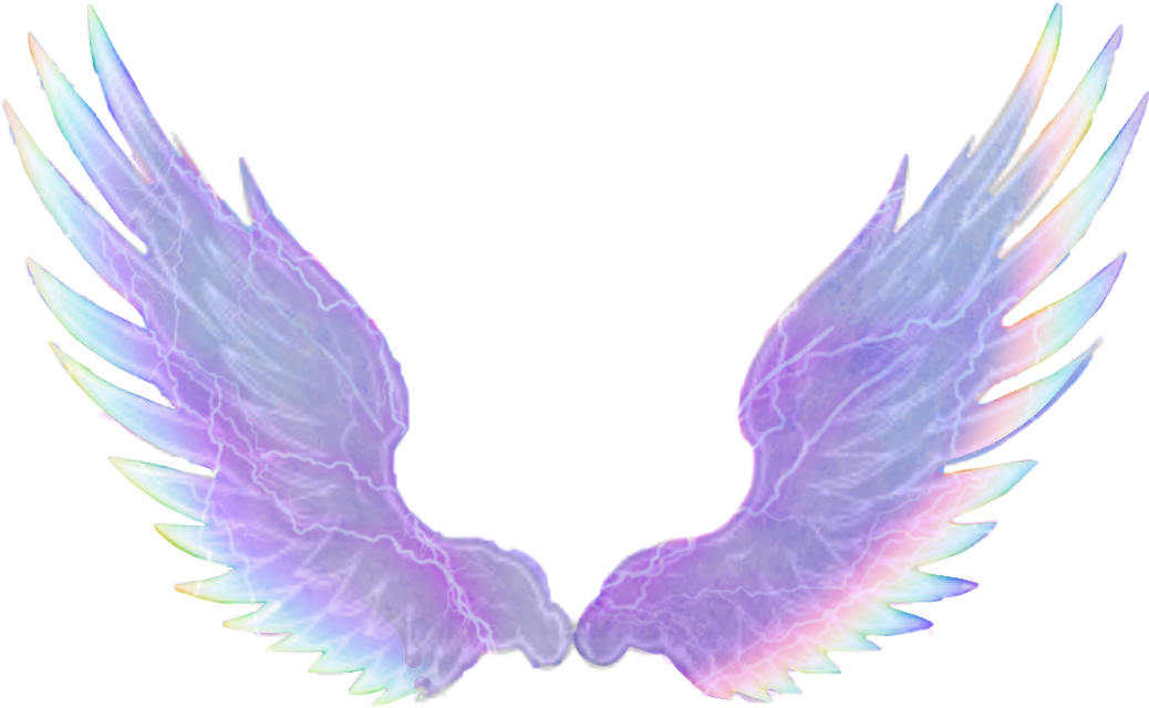 #wings #colours #watercoulor #rainbow #purple