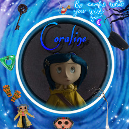 coraline horror othermother button art