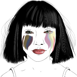 freetoedit sia rainbow tears eccolorsplasheffect