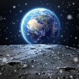 freetoedit moon planetearth galaxy universe