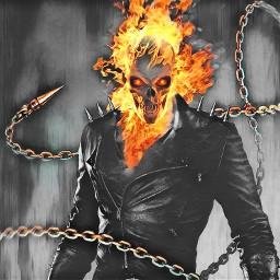 freetoedit ghost ghostrider rider fire eccolorsplasheffect