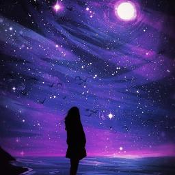 galaxia galaxy noche night