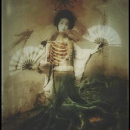 myedit geisha girl bones roots freetoedit