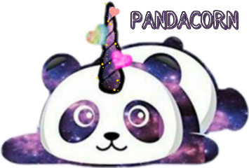 pandacorn freetoedit colorfulsmoke