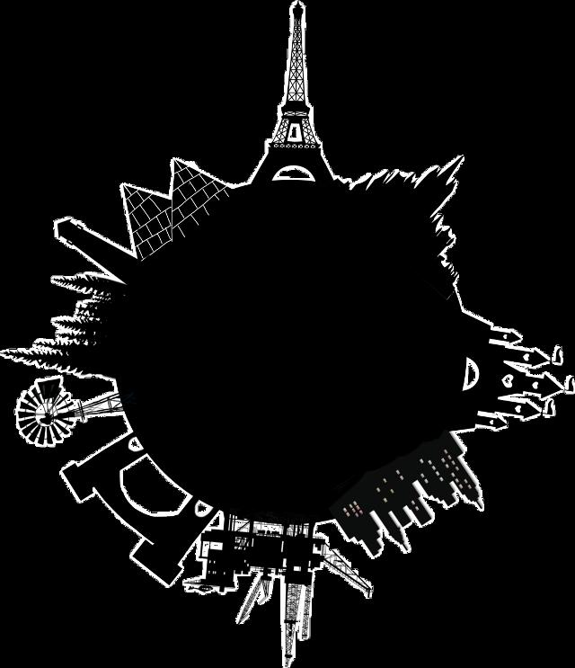 #world #eiffeltower #global #beautiful #onecolour #black