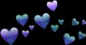 heart purple blue bluehearts purplehearts freetoedit