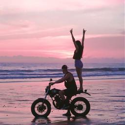 bali rockon travel sunset motorcycle freetoedit