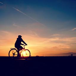 sunset bicycleride beachsunset