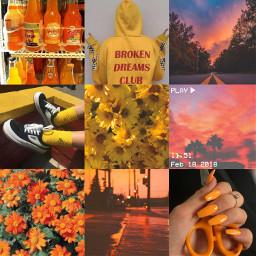 aesthetic moodboard yellow orange