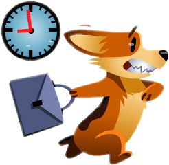 job lavorare cartoon fog clock freetoedit