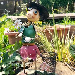 garden doll decoration cute metalwork