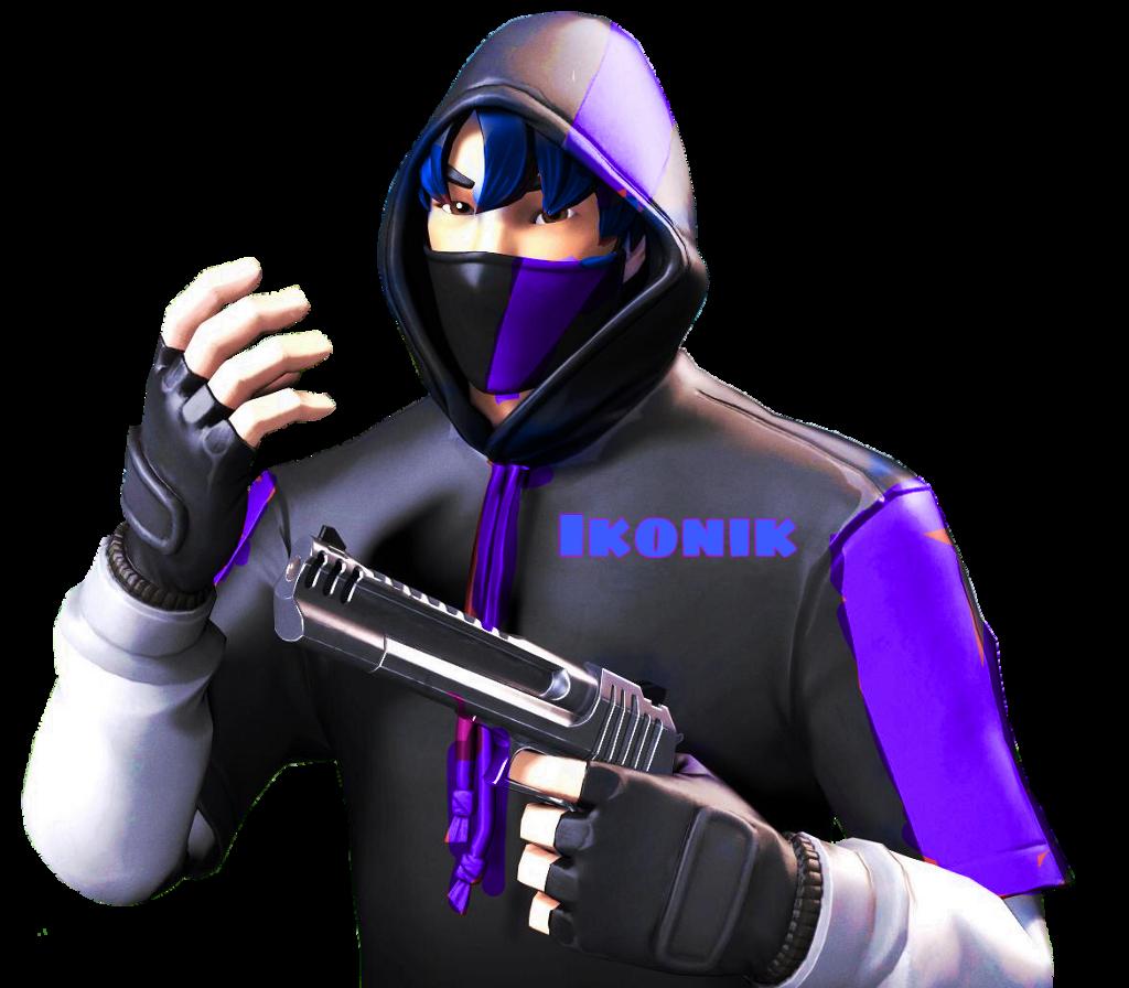 Ikonik Blue Purple Fortnite Skin Jg