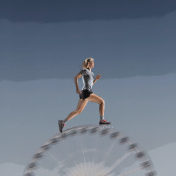 running ferriswheel surreal dailyremix woman