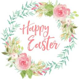 freetoedit easter happy text wreath