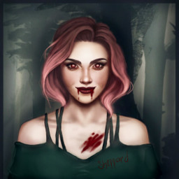 draw digitaldrawing girl vampire obsidianrey