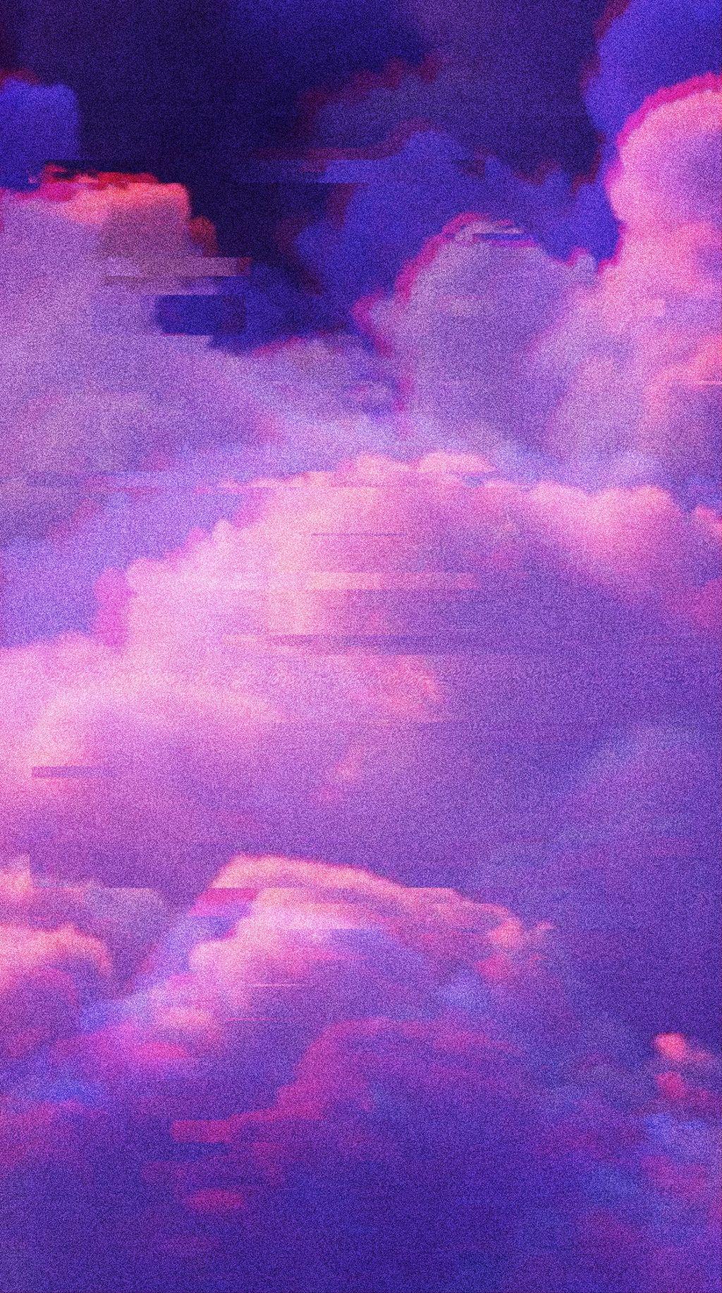 Free Aesthetic Glitch Cloud Background Wallpaper Gli