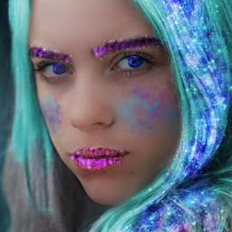 freetoedit billieeilish galaxy galaxyeffect ecgalaxymakeup