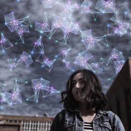 freetoedit geometricbrush sky galaxy