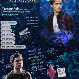 dallascontest1 tomholland spiderman peterparker blue galaxy picsart edit texts textmessage people actor beautiful cute holland tom contest light talented art freetoedit