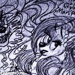 drawnbyme sketch vivid cartoon hollipolliyozza