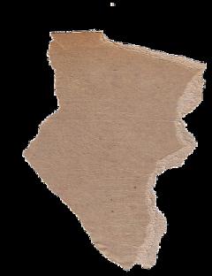 cardboard sticker brownaesthetic ripped freetoedit