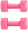 scgymgear gymgear weight pink dumbbells freetoedit