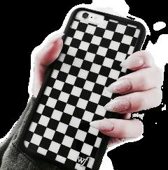 black checkerboard checkerd phonecase iphone freetoedit