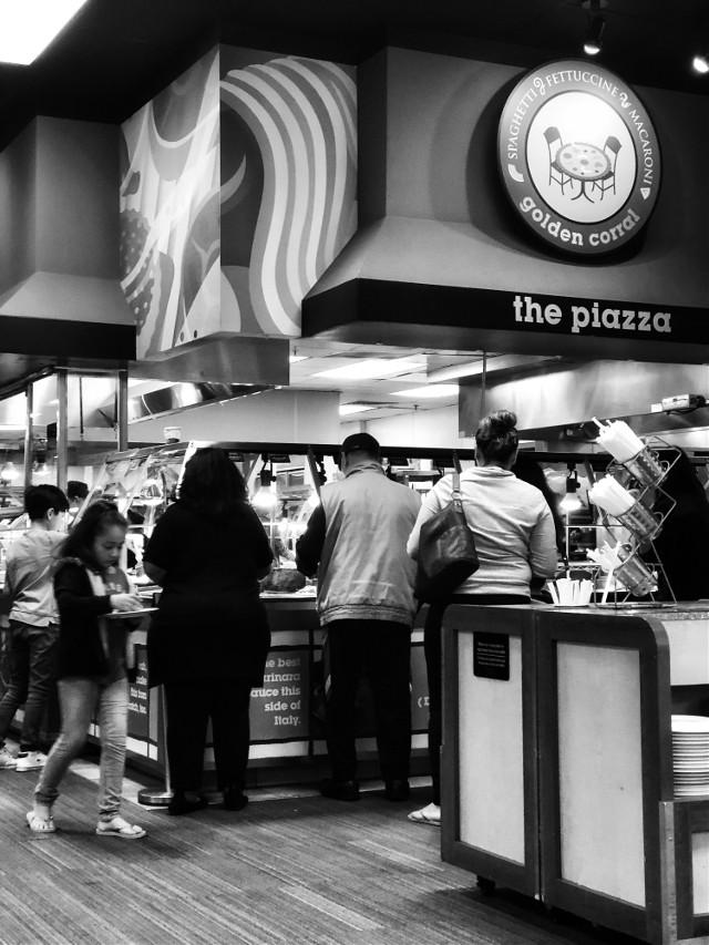 #eatery #goldencorral #blackandwhite