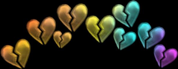 freetoedit hearts rainbow