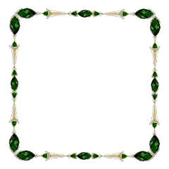 sticker frame border gemstones emerald freetoedit