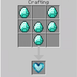 serce diament minecraft crafting freetoedit