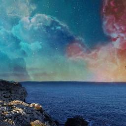 galaxy ocean fantasy