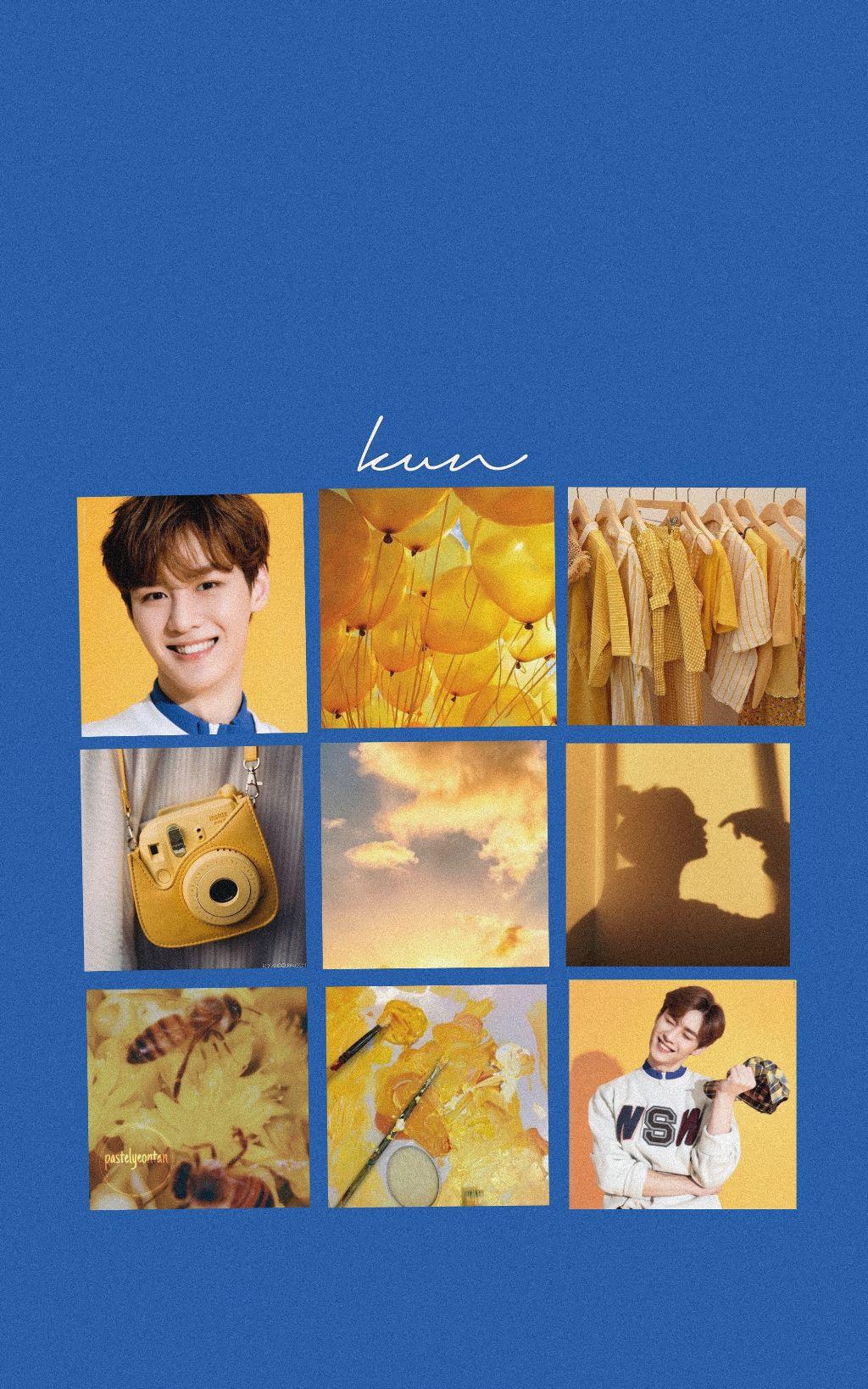 NCT Kun wallpaper!!💙 You're free to use it if you wa
