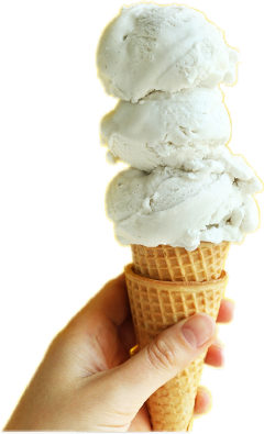 vanilla hand icecream 3 white freetoedit