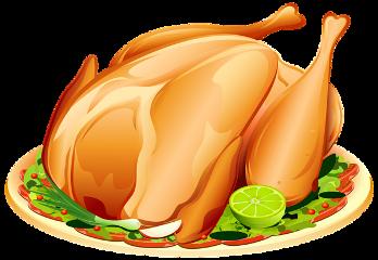 chicken food plate graphicart art freetoedit