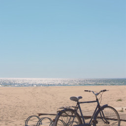 wentforawalk beautifulday atthebeach bycicle parked freetoedit