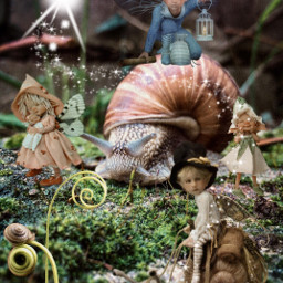 freetoedit elves snails enchantedgarden