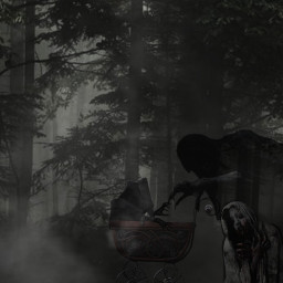 myedit pram creepyedit mistyforrest hooded freetoedit