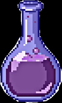 purple liquid flask chemistry freetoedit