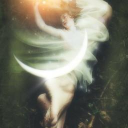 art moon fairy fairyforest dreamy
