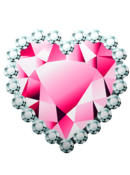 heart pink love lovecore rhinestone freetoedit