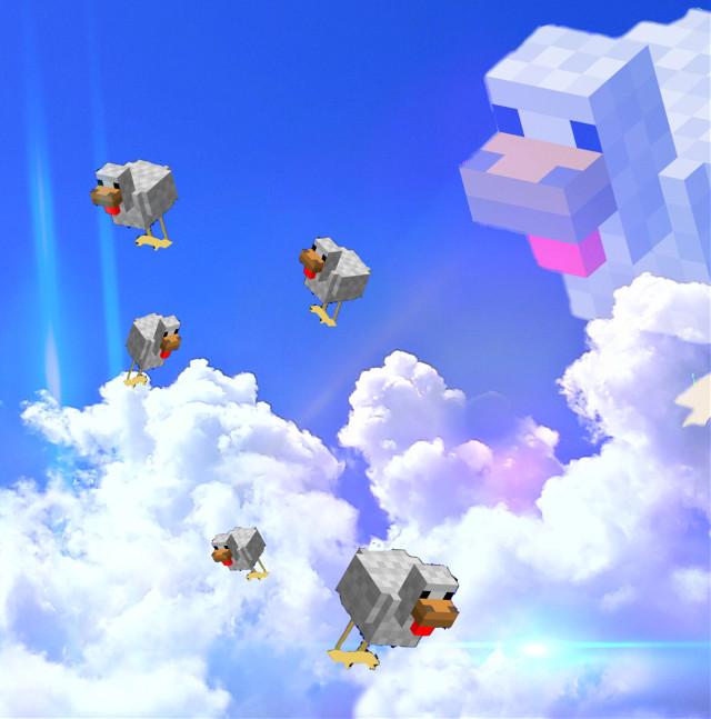 Chicken heaven #minecraft #minecraftchicken #heaven #chicken