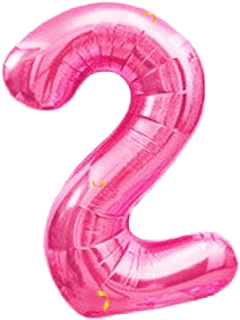 freetoedit numbers two pink balloons